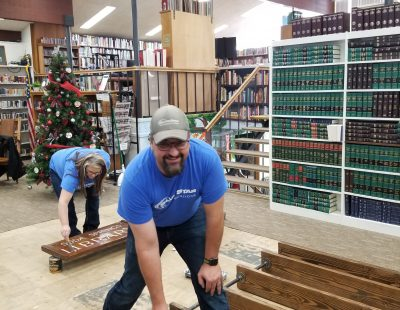 painting the soda springs library