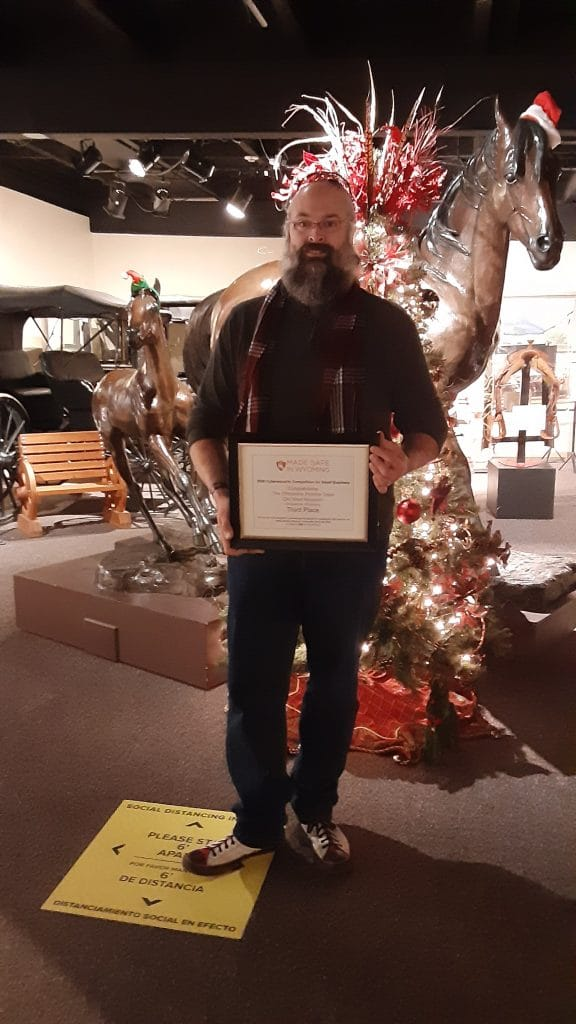 Brian Briggs, Cheyenne Frontier Days Old West Museum, third place winner in 2020's Cybersecurity Competition for Small Businesses.  The Old West Museum intends to use the competition as a leaping board to obtain museum accreditation.