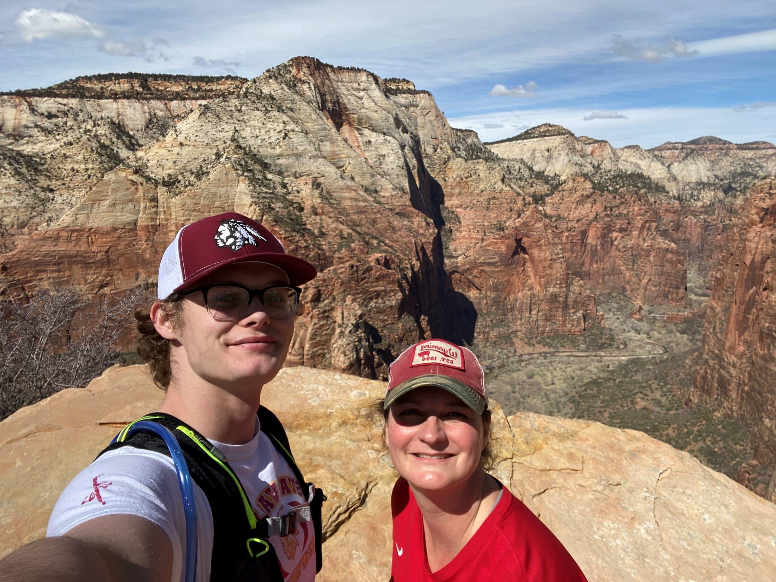 Hiking with my son Alek in Utah