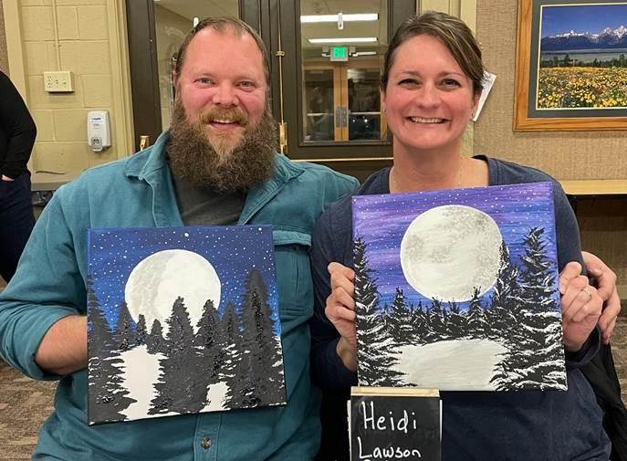 Canvas & Cuisine date night with my husband Heath